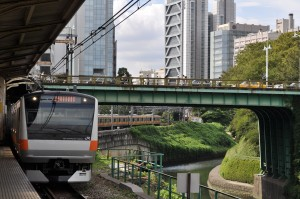 The Chuo line in Tokyo