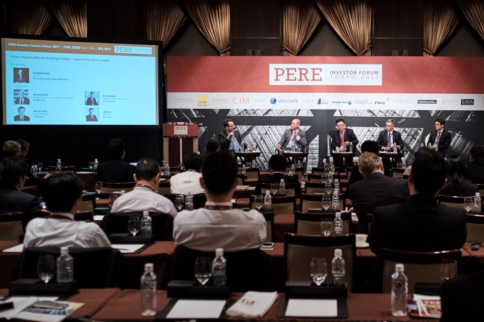 Christopher Dillon at the PERE Investor Forum 2017 in Tokyo