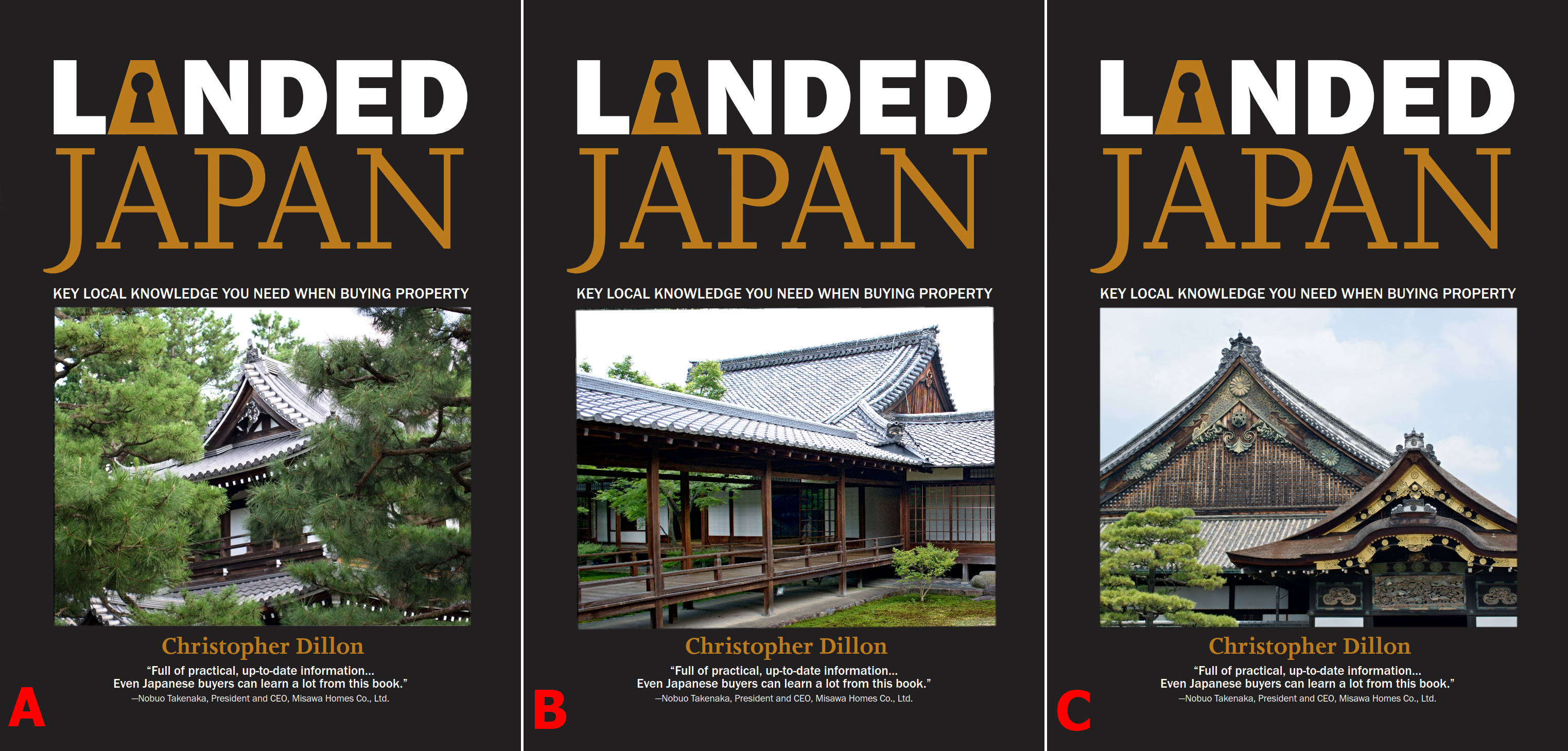 "Potential covers for the book ""Landed Japan"""