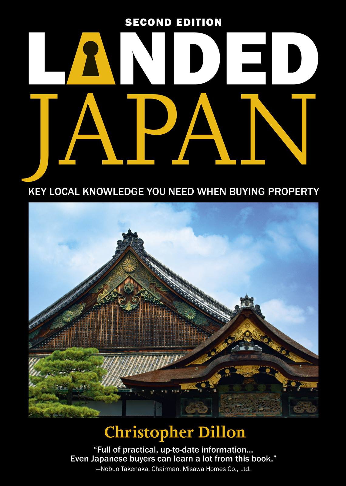 The front cover of the book Landed Japan