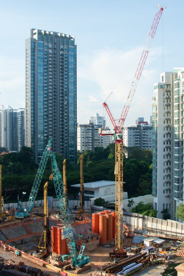 Singapore construction site