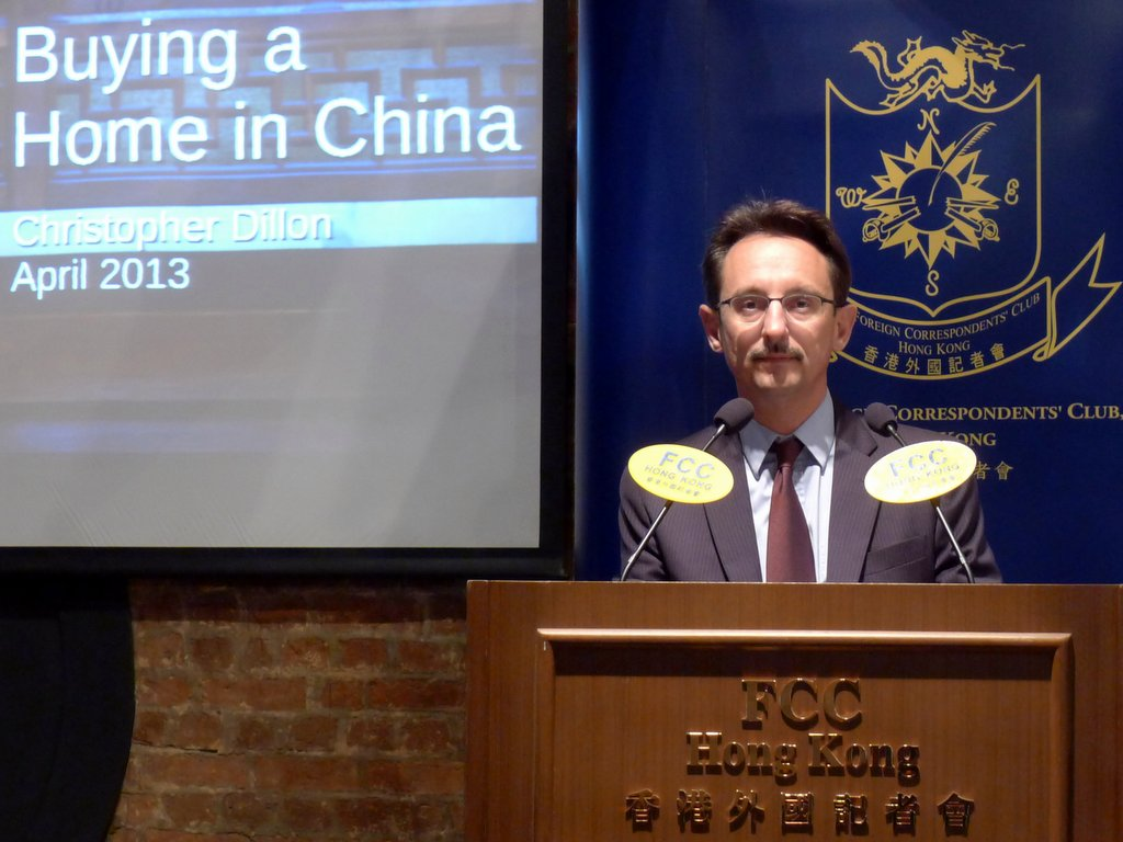 The lauch of Landed China at the Foreign Correspondent's Club in Hong Kong