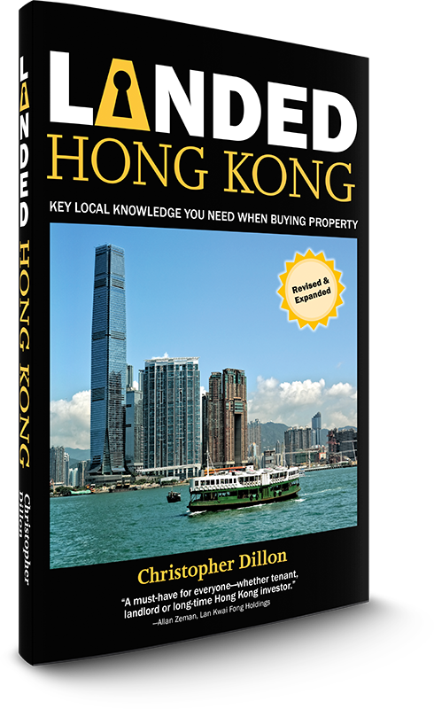 Landed books explain how to buy a home, a house, a flat or an apartment, in Hong Kong.
