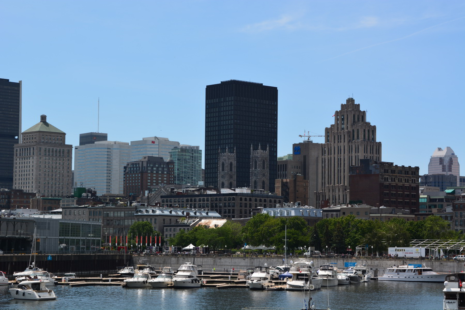 Downtown Montreal, as seen from Bonsecours Basin Park